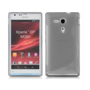 Силиконовый чехол S для Sony Xperia SP Серый