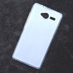 Силиконовый матовый полупрозрачный чехол для ZTE Blade L3 Белый