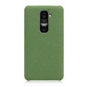 Пластиковый матовый чехол для LG Optimus G2 Зеленый
