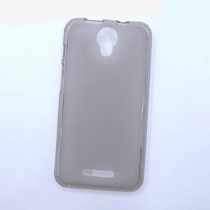 Силиконовый матовый полупрозрачный чехол для Alcatel Pixi 4 (5) 5010D Серый