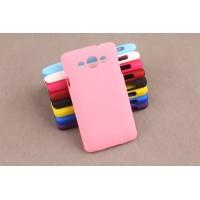 Пластиковый матовый непрозрачный чехол для LG L60 Розовый