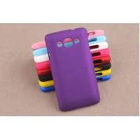 Пластиковый матовый непрозрачный чехол для LG L60 Фиолетовый