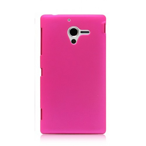 Чехол пластиковый для Sony Xperia ZL Розовый