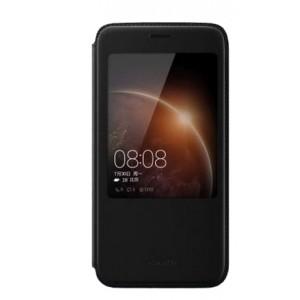 Оригинальный кожаный чехол смарт флип на пластиковой основе с окном вызова для Huawei G8