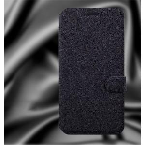 Чехол горизонтальная книжка (флип) подставка на пластиковой основе с отделением для карт на магнитной защелке для ZUK Z1 Черный