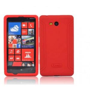 Силиконовый матовый непрозрачный нескользящий чехол для Nokia Lumia 820