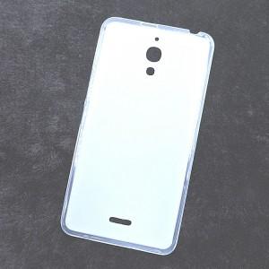 Силиконовый матовый полупрозрачный чехол для Alcatel One Touch Pixi 4 (6) Белый