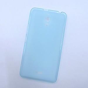 Силиконовый матовый полупрозрачный чехол для Alcatel One Touch Pixi 4 (6) Голубой