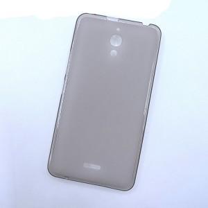 Силиконовый матовый полупрозрачный чехол для Alcatel One Touch Pixi 4 (6) Черный