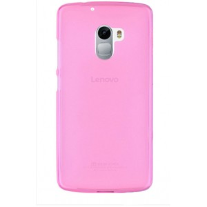 Силиконовый матовый полупрозрачный чехол для Lenovo A7010 Розовый
