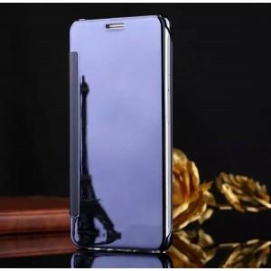 Двухмодульный пластиковый чехол флип с полупрозрачной акриловой крышкой с зеркальным покрытием для Samsung Galaxy A5 (2016) Фиолетовый