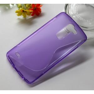 Силиконовый S чехол для LG G3 Stylus Фиолетовый