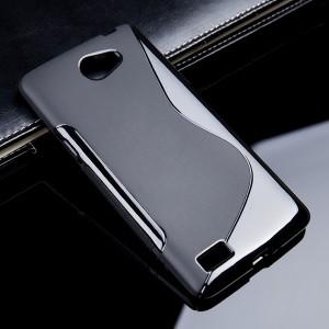 Силиконовый S чехол для LG Max Черный