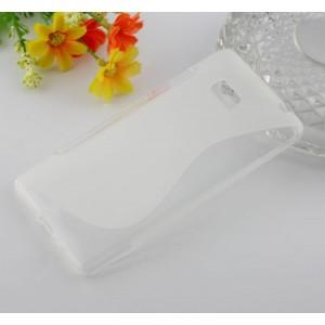Силиконовый чехол S для HTC Desire 600 Белый