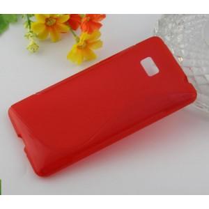 Силиконовый чехол S для HTC Desire 600 Красный