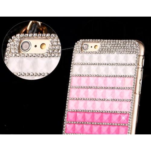 Пластиковый чехол с ручной аппликацией стразами для Iphone 6