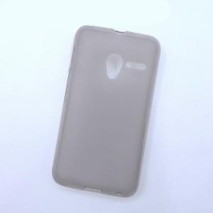Силиконовый матовый полупрозрачный чехол для Alcatel One Touch Pixi 3 (4.0) Черный