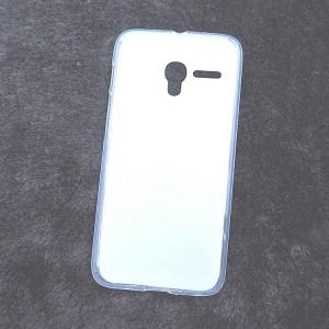 Силиконовый матовый полупрозрачный чехол для Alcatel One Touch Pixi 3 (4.0) Белый