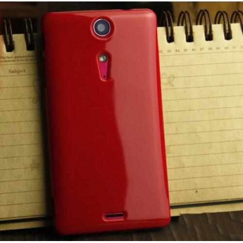 Силиконовый глянцевый непрозрачный чехол для Sony Xperia TX Красный