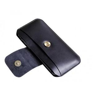 Кожаная кобура с кнопкой и карманом (нат. кожа) для Iphone 6 (изготовление под заказ)