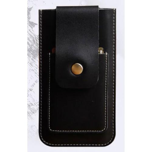 Кожаный мешок с язычком-кнопкой (нат. кожа) для Iphone 6 (изготовление на заказ)