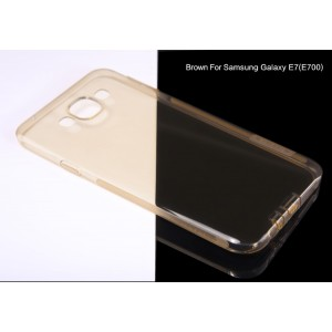 Силиконовый матовый полупрозрачный чехол с защитными заглушками для Samsung Galaxy E7