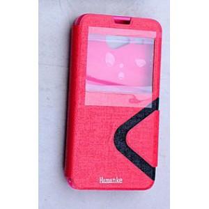 Дизайнерский чехол флип подставка на силиконовой основе с окном вызова с магнитной защелкой для Acer Liquid Z520 Красный