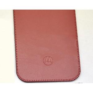 Кожаный мешок для Lenovo Moto X Style Красный
