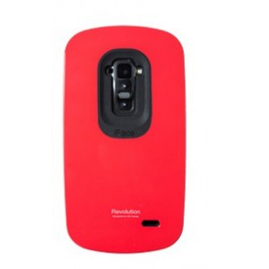 Силиконовый удароабсорбирующий чехол премиум для LG G Flex Красный