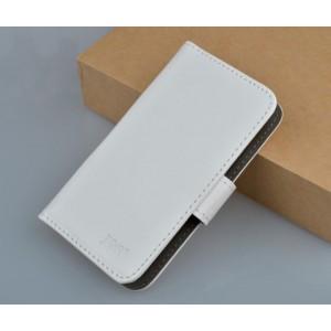 Чехол кожаный портмоне горизонтальный для Sony Xperia V Белый