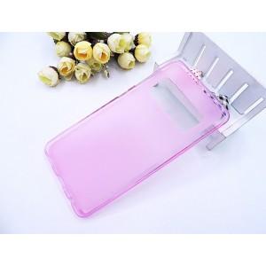 Силиконовый матовый полупрозрачный чехол для ASUS ZenFone AR Розовый