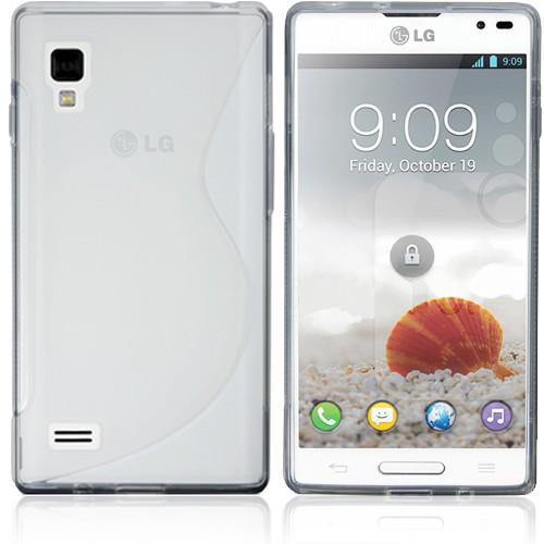 Чехол силиконовый для LG Optimus L9 P765 Белый