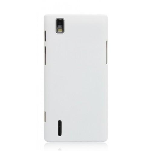 Пластиковый чехол для Huawei Ascend P2 Белый