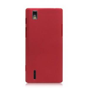 Пластиковый чехол для Huawei Ascend P2 Красный