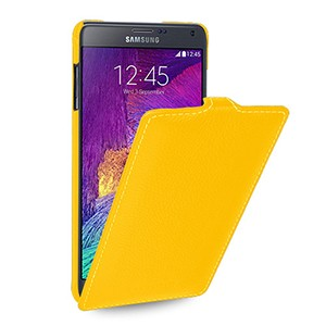Кожаный чехол вертикальная книжка (нат. кожа) для Samsung Galaxy Note 4