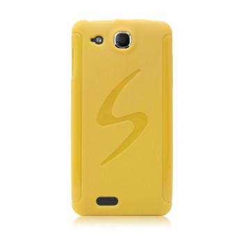 Силиконовый чехол S для Alcatel One Touch Idol Ultra Желтый