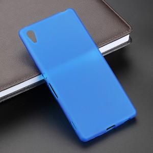 Силиконовый чехол для Sony Xperia Z Голубой