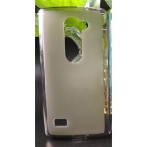 Силиконовый матовый полупрозрачный чехол для LG Leon Серый