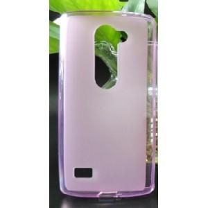 Силиконовый матовый полупрозрачный чехол для LG Leon Розовый