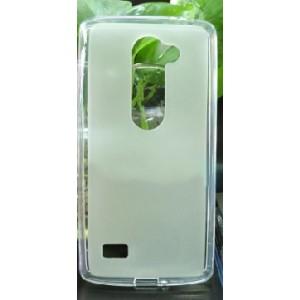 Силиконовый матовый полупрозрачный чехол для LG Leon Белый
