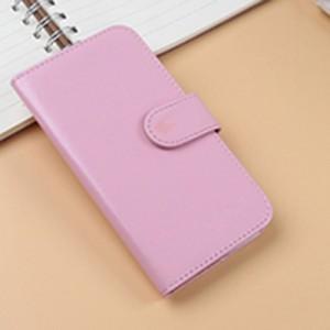Чехол портмоне подставка на клеевой основе на магнитной защелке для Lenovo Vibe C2 Розовый