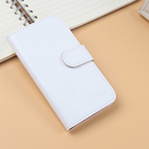 Чехол портмоне подставка на клеевой основе на магнитной защелке для Lenovo Vibe C2 Белый