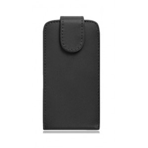 Чехол вертикальная книжка на клеевой основе на магнитной защелке для Alcatel Pixi 4 (5) 3G 5010d Черный