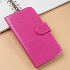 Чехол портмоне подставка на клеевой основе на магнитной защелке для Philips S307 Пурпурный