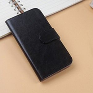 Глянцевый чехол портмоне подставка на клеевой основе для Wileyfox Storm Черный