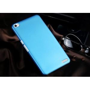 Пластиковый матовый непрозрачный чехол для Huawei MediaPad X2 Голубой