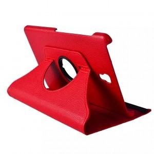 Чехол подставка с рамочной защитой, слотами для карт и поддержкой кисти для Samsung Galaxy Tab S 8.4 Красный