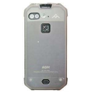 Силиконовый матовый полупрозрачный чехол для AGM X2 Белый