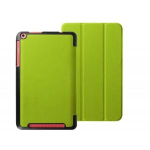 Чехол флип подставка сегментарный на поликарбонатной основе для Acer Iconia One 8 B1-830 Зеленый