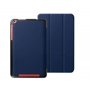 Чехол флип подставка сегментарный на поликарбонатной основе для Acer Iconia One 8 B1-830 Синий